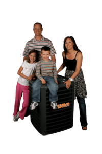 family with tiger ac unit