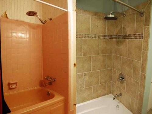 Bathroom facelifts combine design functionality for Bathroom renovation before and after
